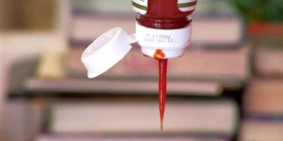 Nuevo material ultra resbaloso aliviará esperas por últimos restos de ketchup