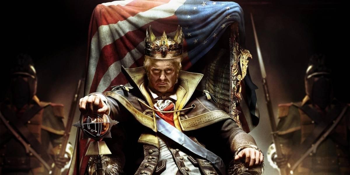 Trump se transforma en un viejo rey loco en Twitter