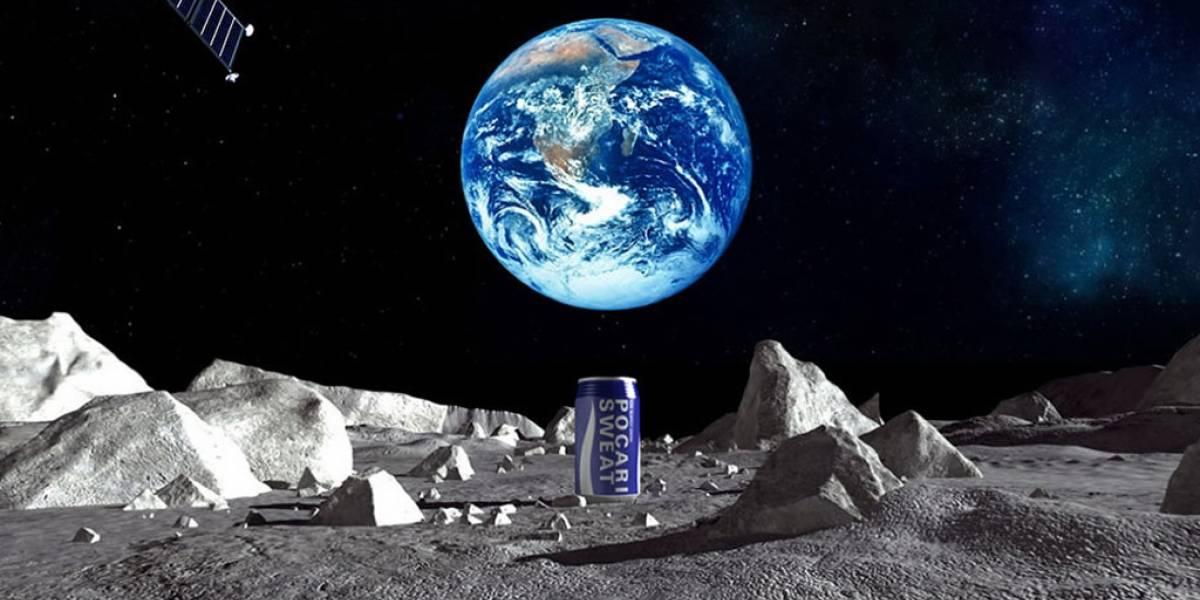 Compañía japonesa lanzará bebida deportiva a la Luna