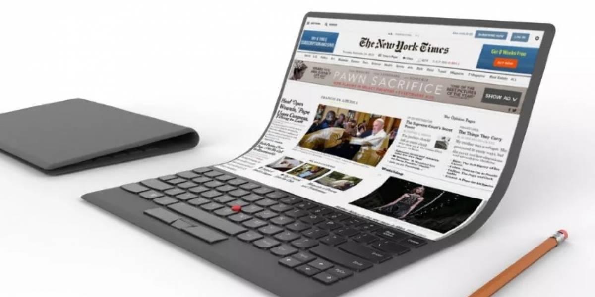 Lenovo quiere crear una laptop con pantalla flexible porque por qué no