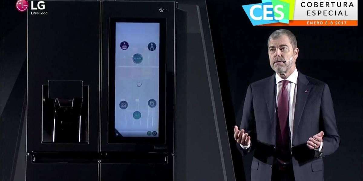 LG presenta un refrigerador con Alexa de Amazon #CES2017