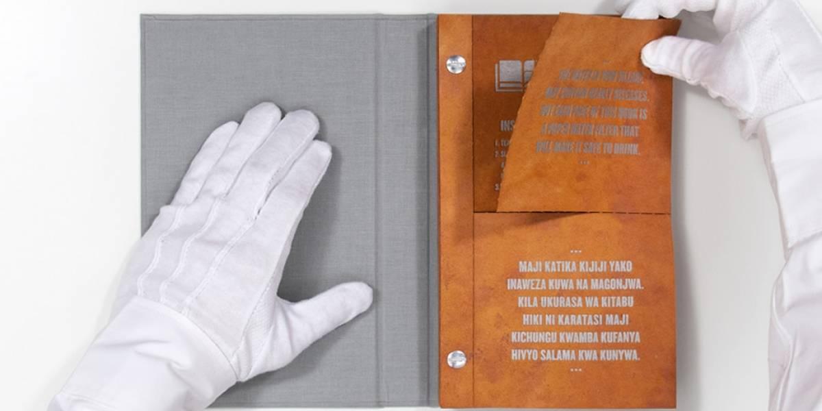 """Libro """"potable"""" podría ayudar a salvar vidas en países pobres"""