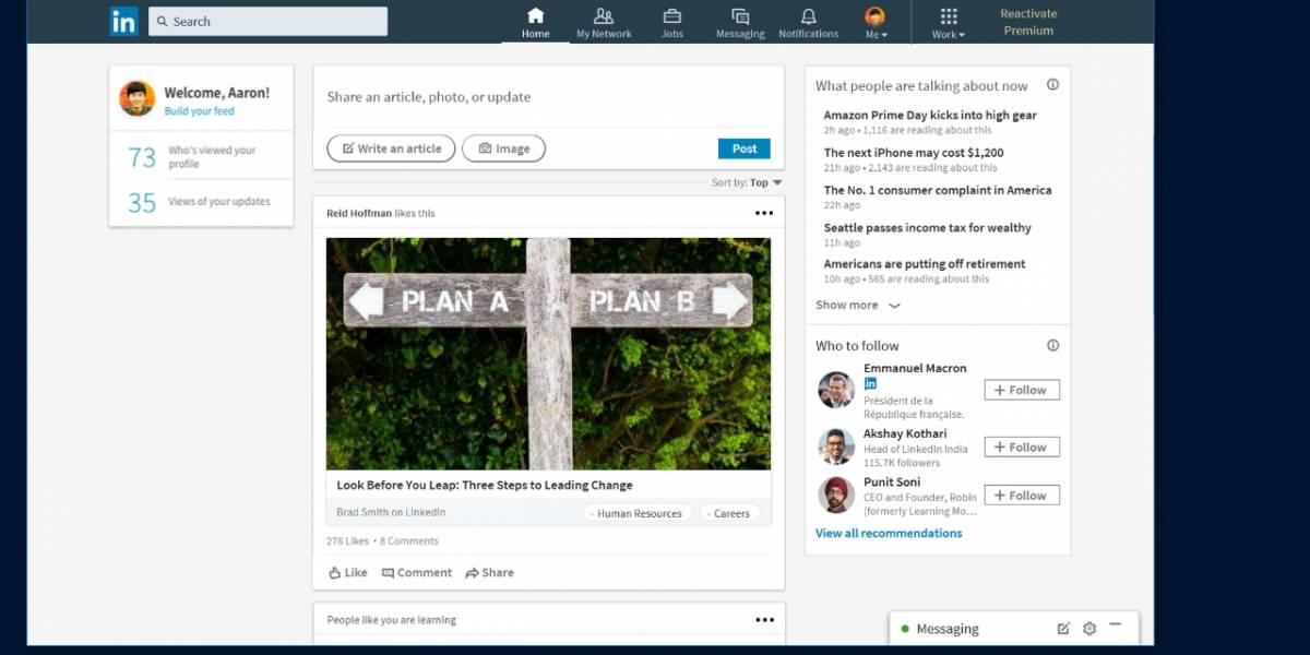 LinkedIn lanza su aplicación para Windows 10