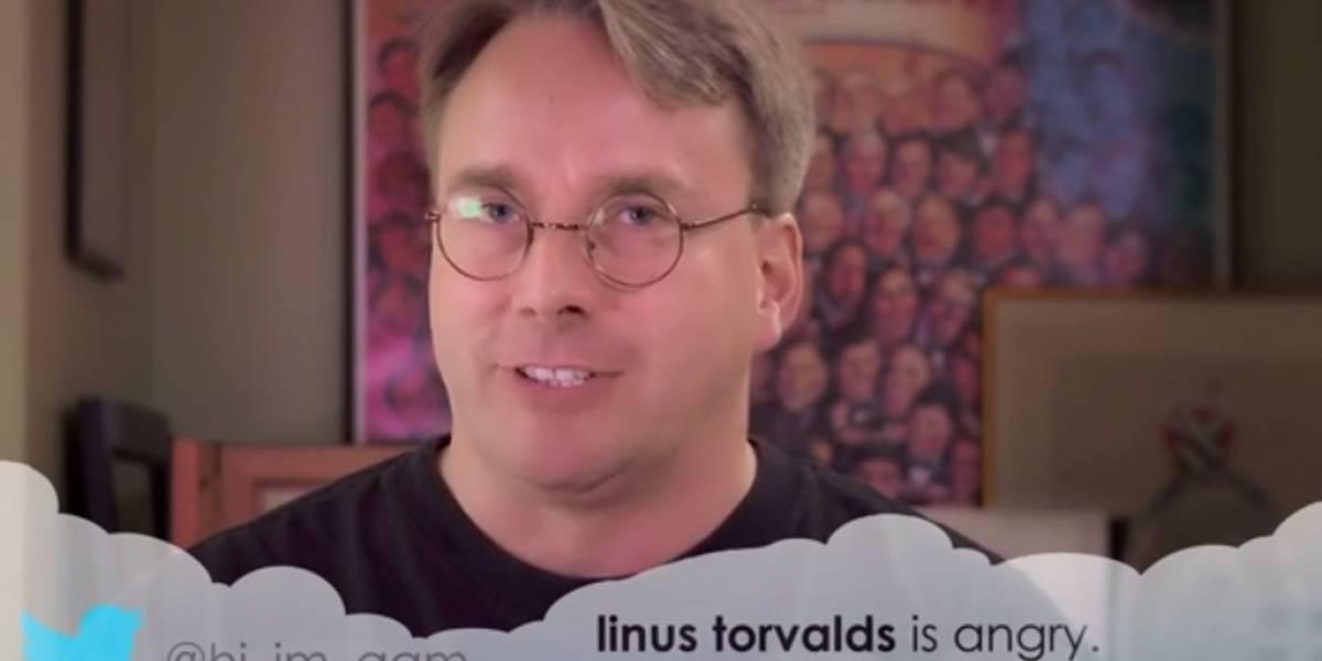 Linus Torvalds lee tuits malintencionados