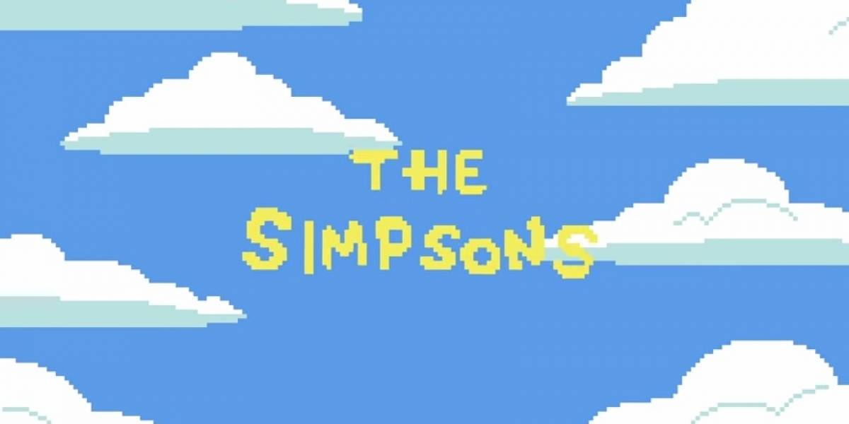 Publican tributo en pixel art para Los Simpsons