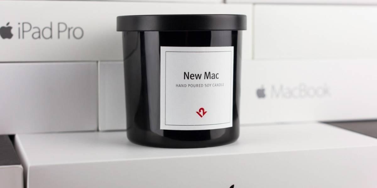 Sale a la venta nueva vela con aroma a Mac nuevo