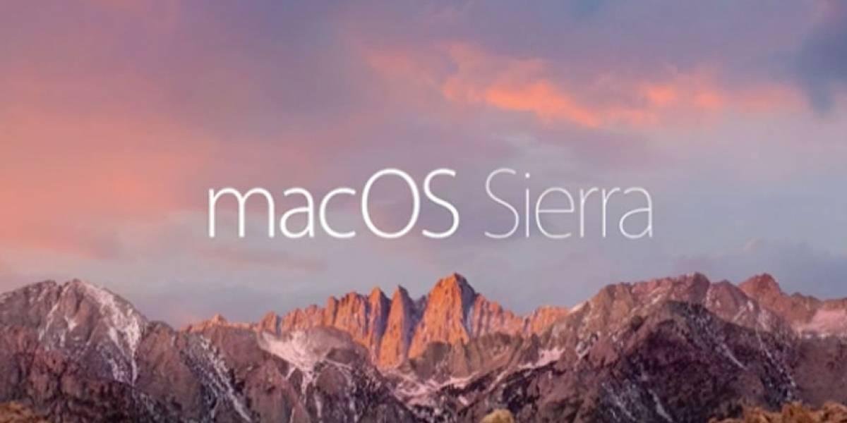 macOS Sierra ya está disponible para su descarga