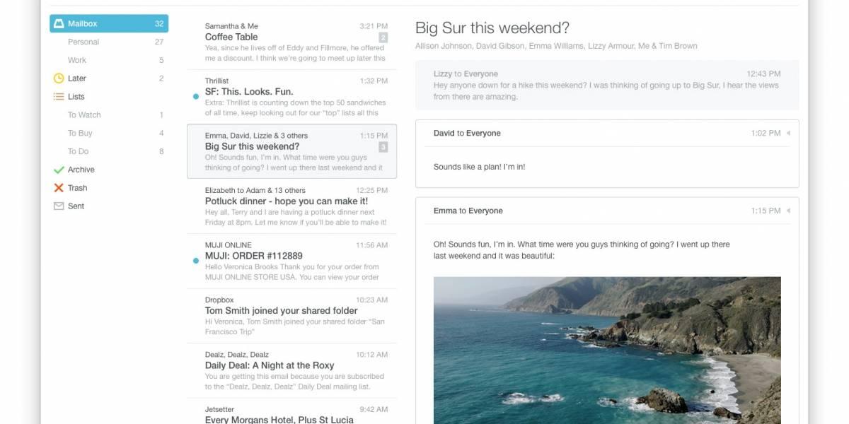 Dropbox anuncia Mailbox para OS X