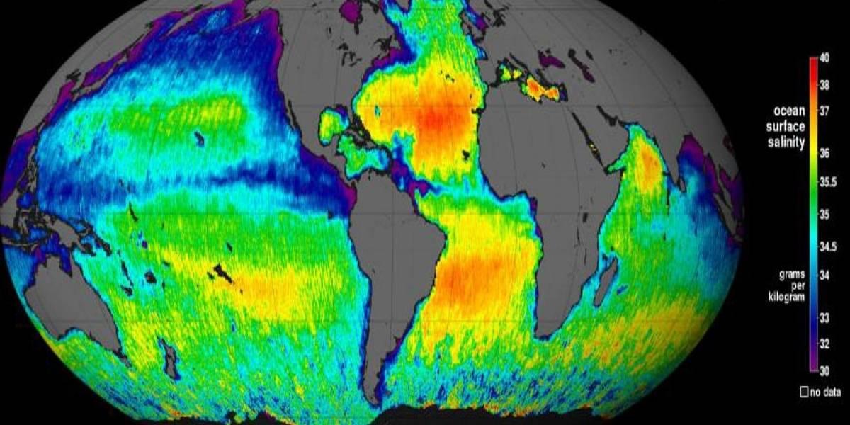 El SAC-D/Aquarius produce su primer mapa global de la salinidad de los océanos