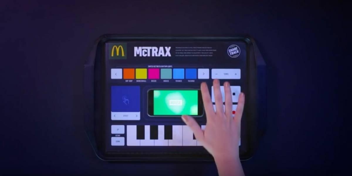 McDonald's McTrax es un mantel de papel para crear música