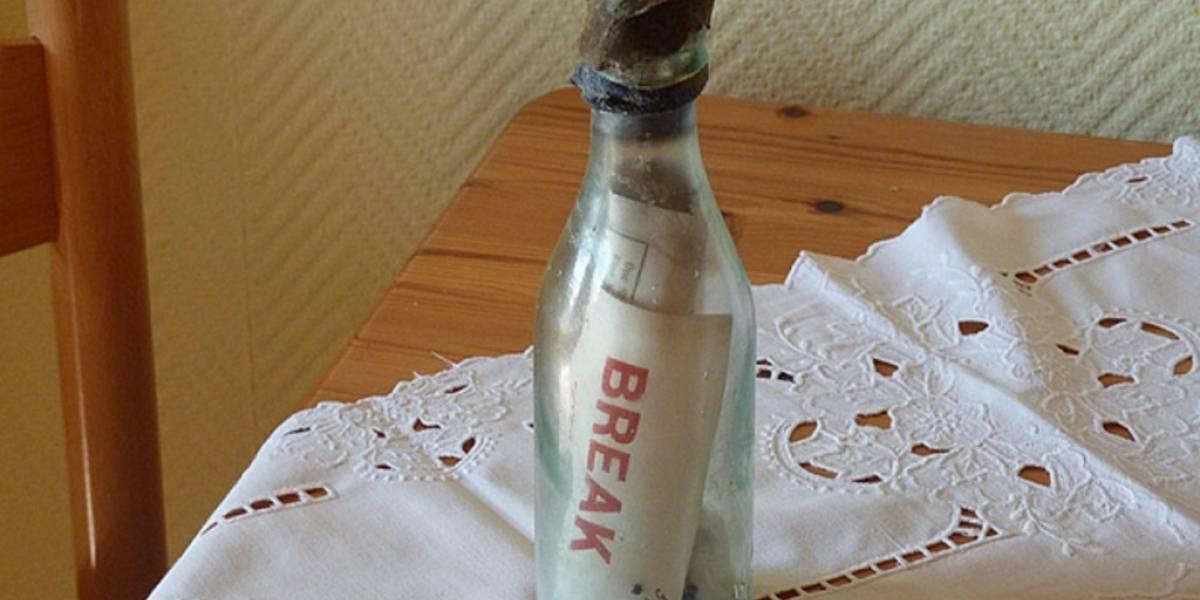 Encuentran mensaje en una botella arrojada al mar hace 108 años