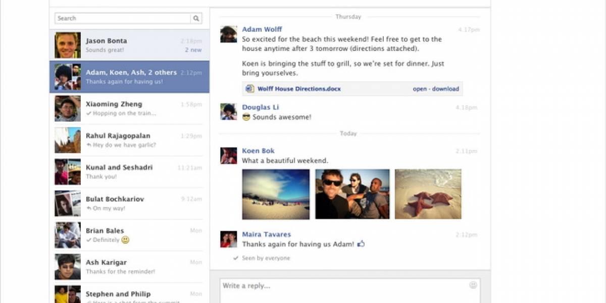 Facebook estrena mensajes de dos paneles y agrega atajos de teclado