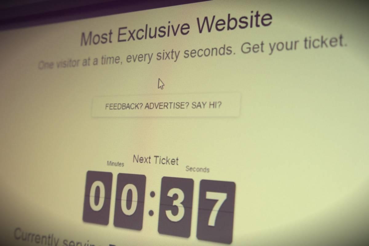 Al sitio web más exclusivo del mundo solo ingresa una persona a la vez