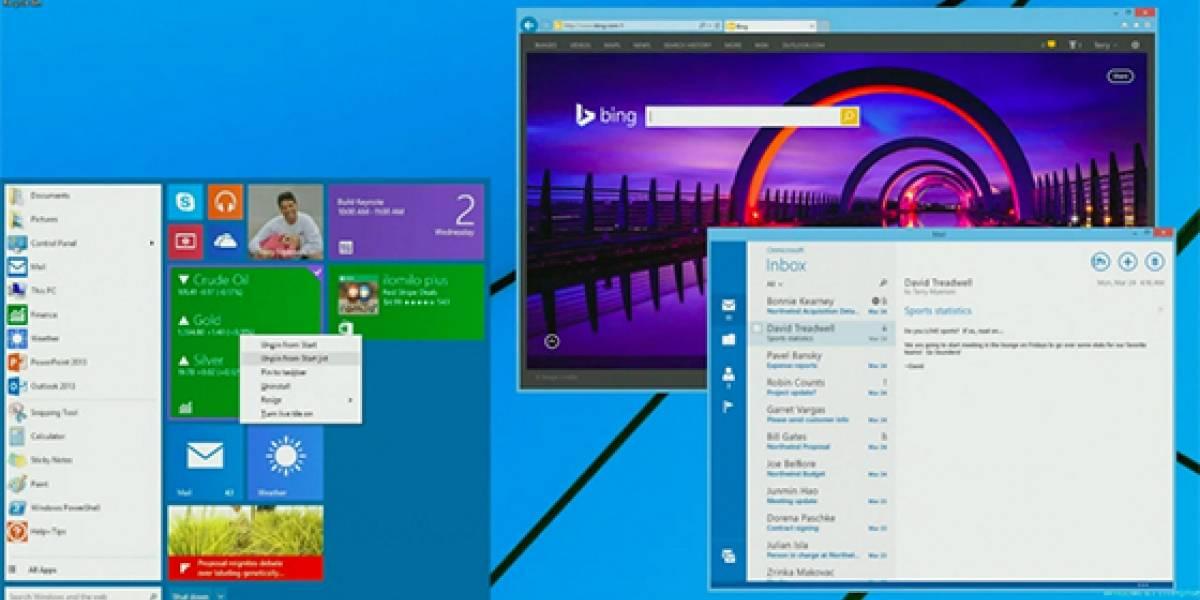 El menú inicio en Windows 8.1 volverá en agosto