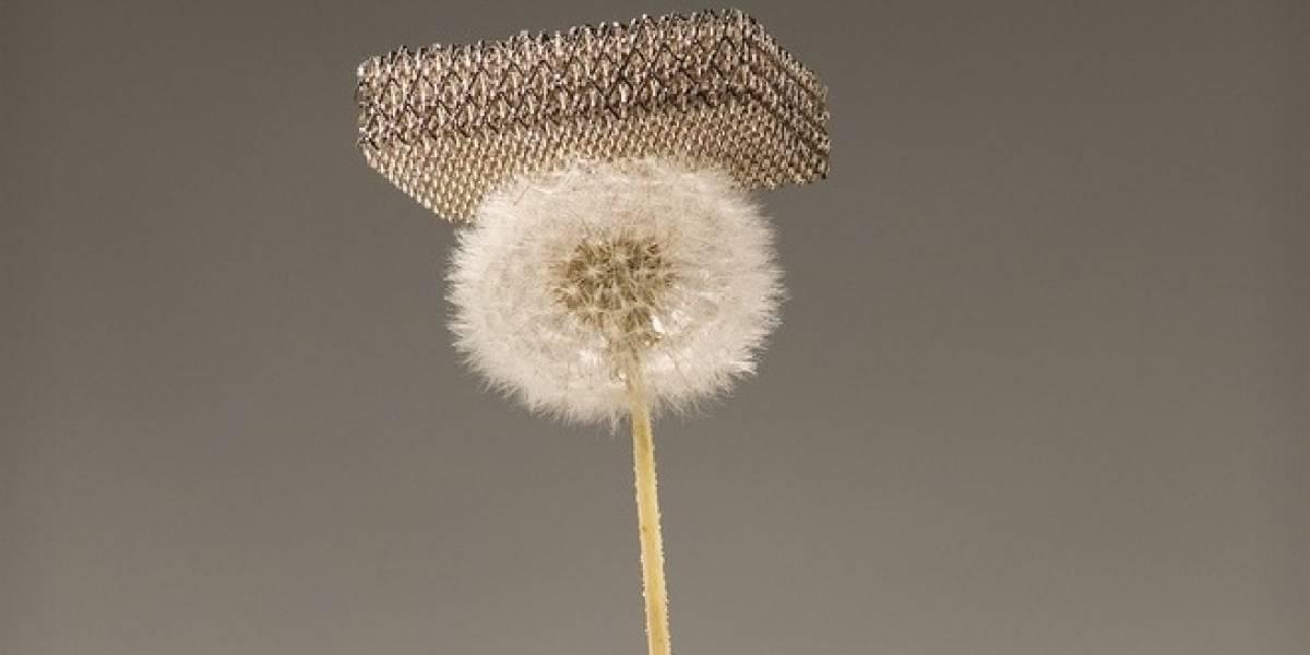 """El material más liviano del mundo ahora es esta """"micro rejilla"""" metálica"""