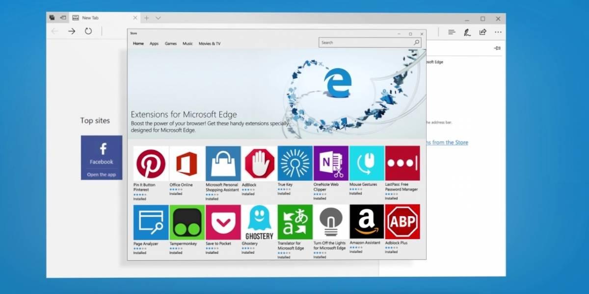 Microsoft revela las novedades de Creators Update para Edge