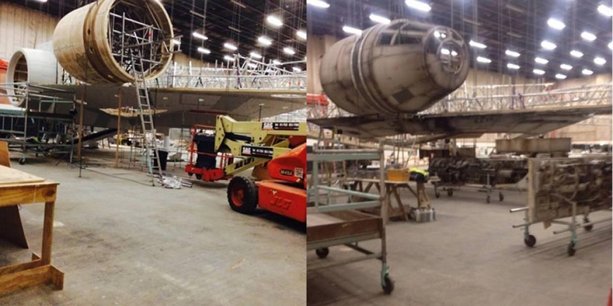Fotos filtradas del Halcón Milenario en set de construcción de Star Wars: Episodio VII