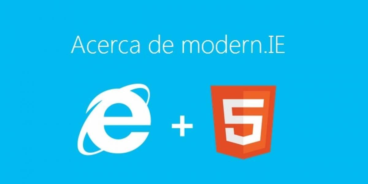 Testea la compatibilidad de tu sitio web con MODERN.IE