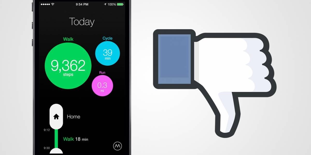 Moves cambia los términos de uso para compartir datos con Facebook