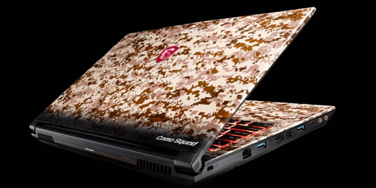 MSI Camo Squad es una laptop para gamers de mal gusto