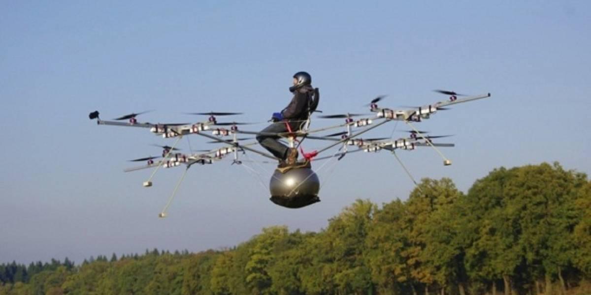 El primer multicóptero tripulado parece una silla de ejecución en el aire (video)
