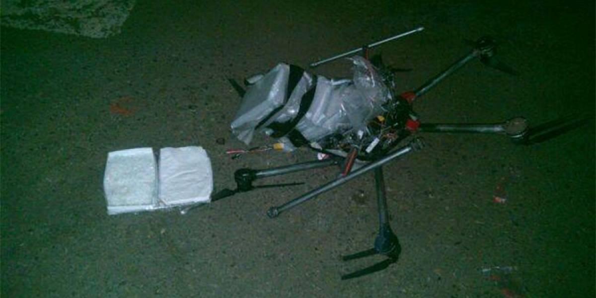 Dron que transportaba cocaína se desploma en Tijuana