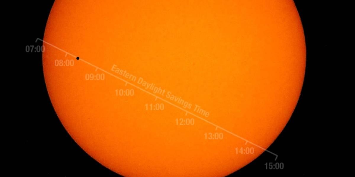 Así lucirá Mercurio cuando pase frente al Sol, según la NASA