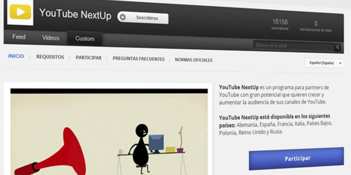 NextUp 2012: YouTube busca nuevos talentos en Europa