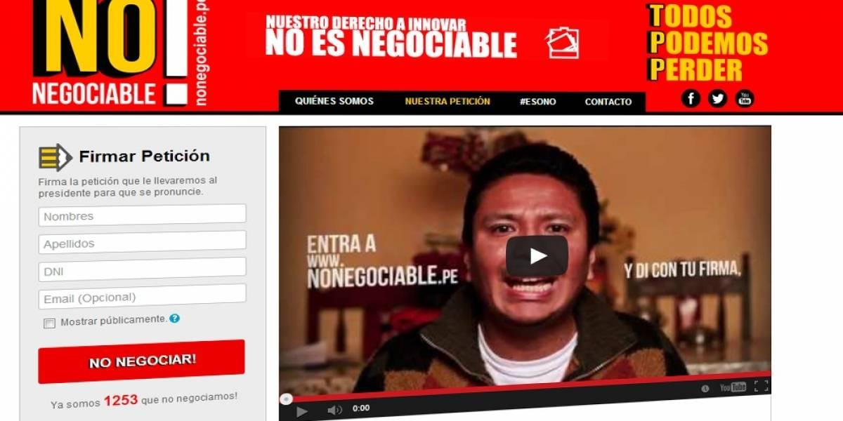 """""""Nuestros derechos no son negociables"""", le dicen peruanos a Humala por el acuerdo TPP"""