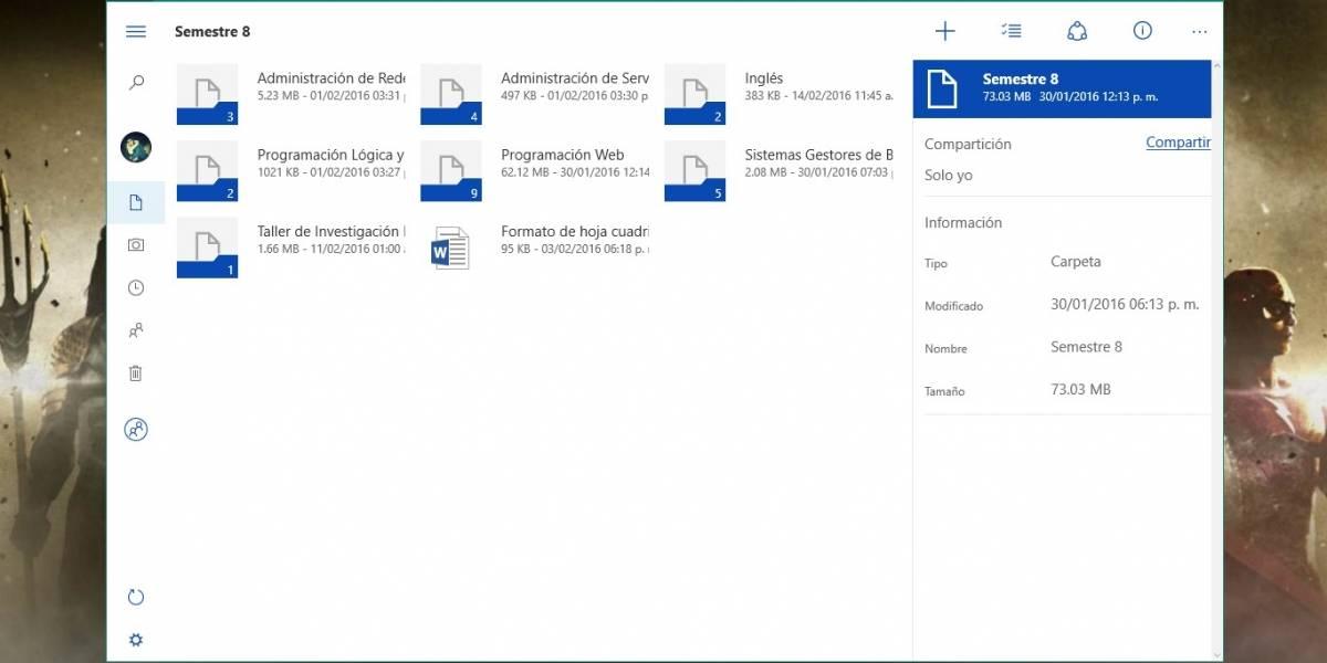 OneDrive disponible para descargar en Windows 10