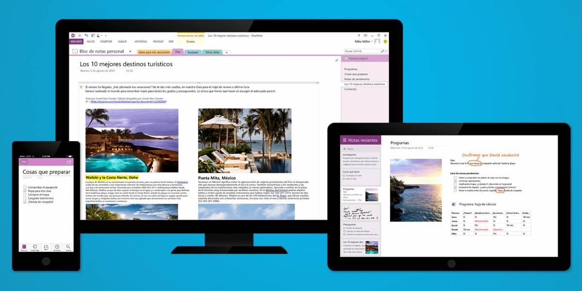 Microsoft brinda características premium a versión gratuita de OneNote 2013