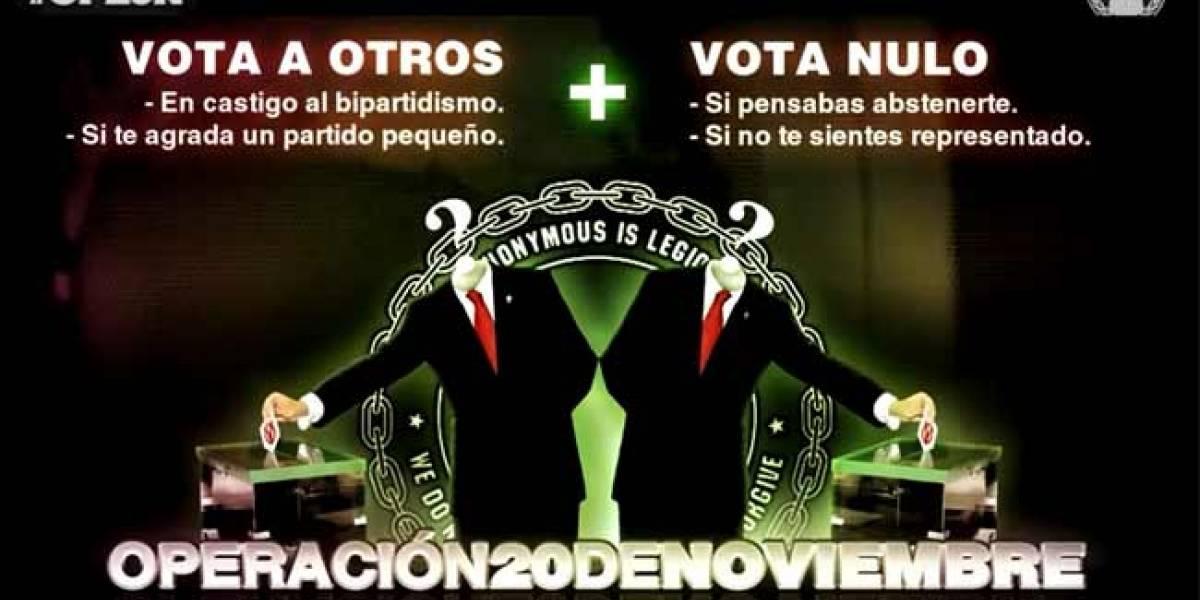 #Op20N: Anonymous invita a 'hackear' las elecciones generales de España