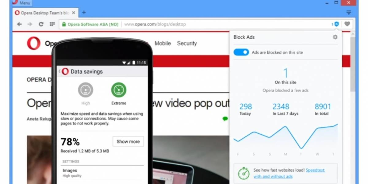 Opera listo para acabar con la publicidad en la versión estable