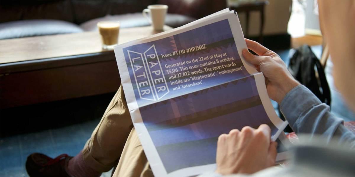 PaperLater ofrece imprimirte Internet y enviarlo a tu casa como un periódico