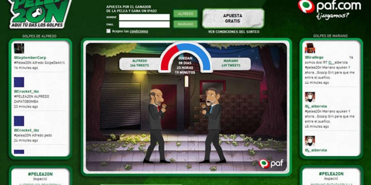 España vive una #Pelea20N: Rubalcaba y Rajoy se enfrentan a golpe de tuits