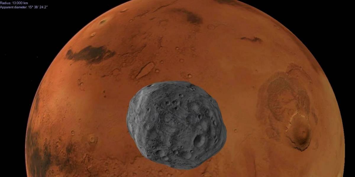 Las lunas de Marte son producto de un choque entre planetas
