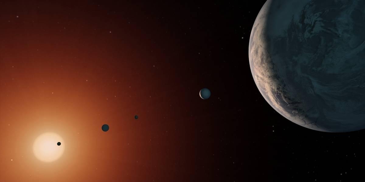 Exoplanetas de Trappist-1 podrían alojar vida extraterrestre