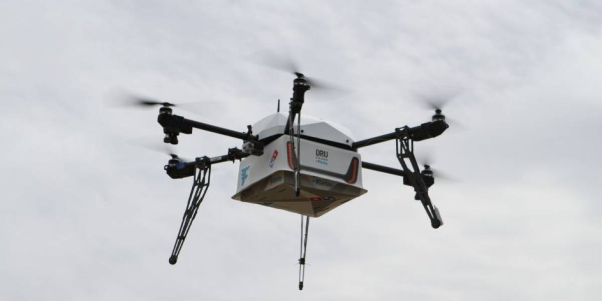 Entregan con éxito la primera pizza enviada por un dron