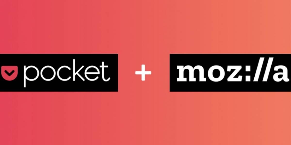 Mozilla adquiere a Pocket, la plataforma para almacenar artículos