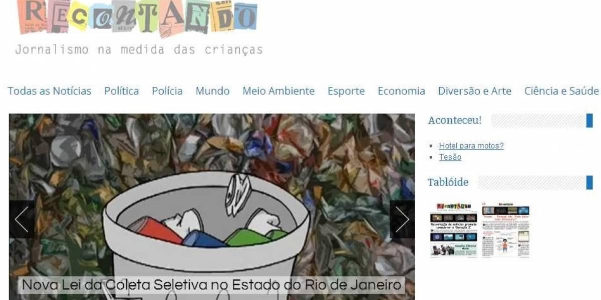 Recontando: Web creada por periodistas brasileños que adapta las noticias para los niños