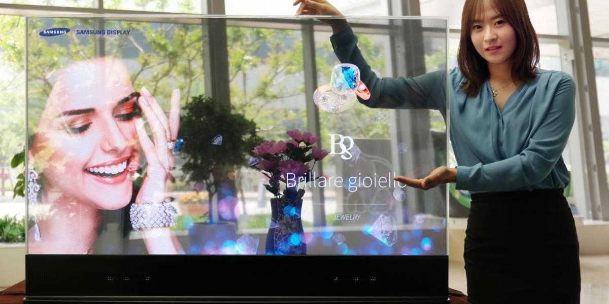 Samsung anuncia el primer panel OLED transparente