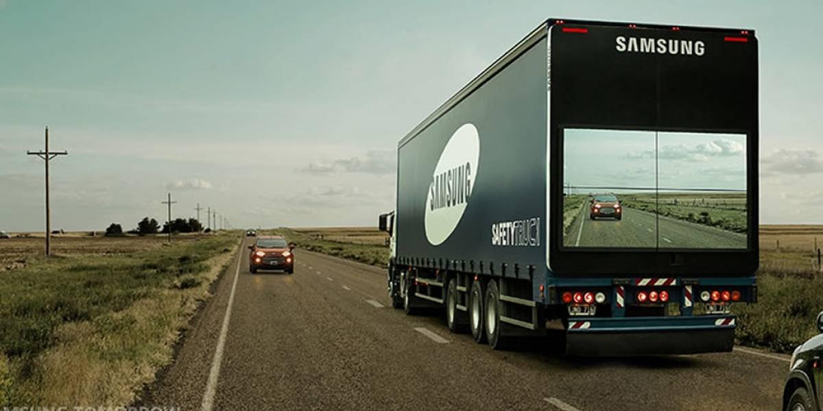 Este camión de Samsung podría evitar accidentes automovilísticos