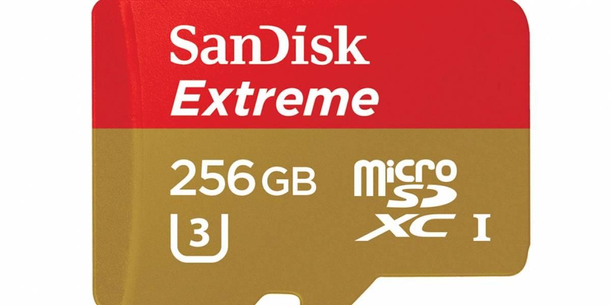 SanDisk presentó la tarjeta microSD más rápida del mundo