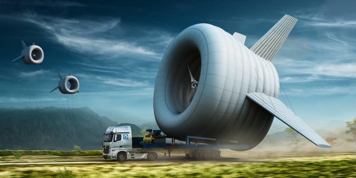 Una turbina aerea para zonas marginadas