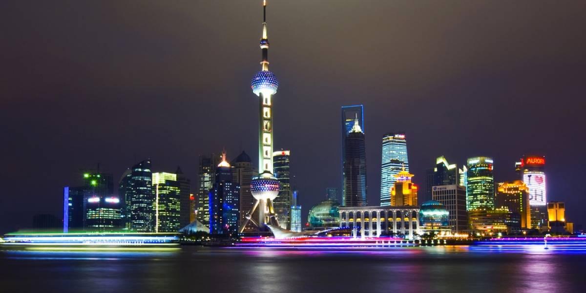 Shanghái a vista de dron