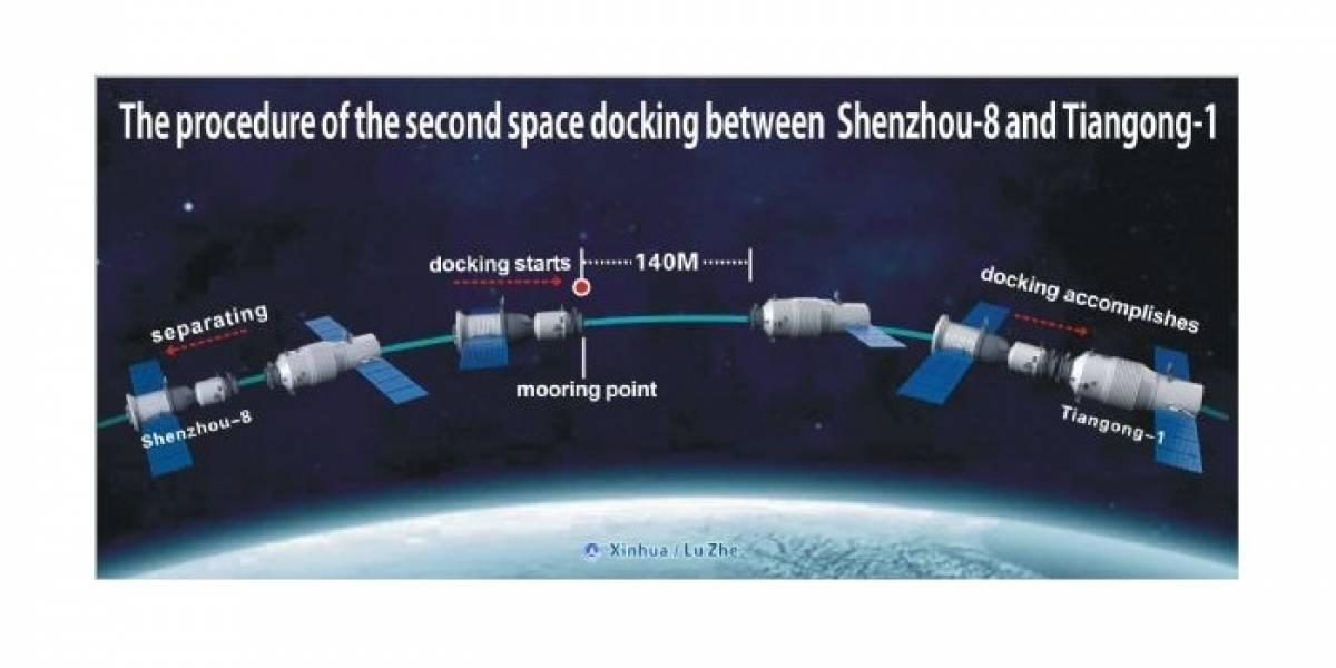 China consigue un segundo acoplamiento espacial exitoso