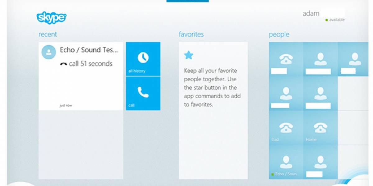 Así se ve Skype para Windows 8