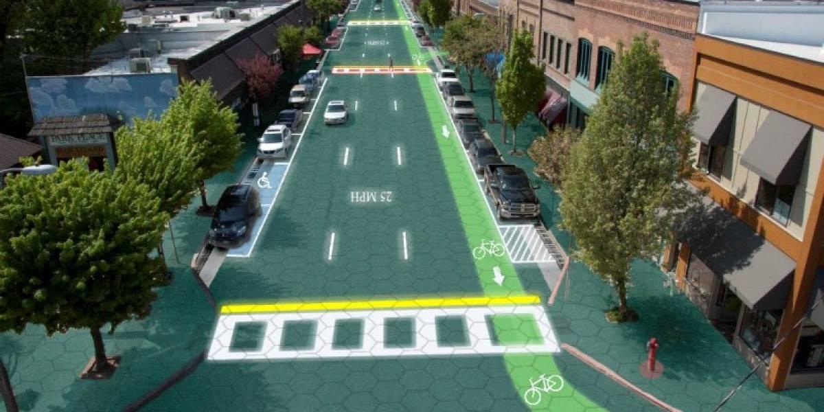 Proyecto en Indiegogo busca financiar carreteras con paneles solares y luces LED