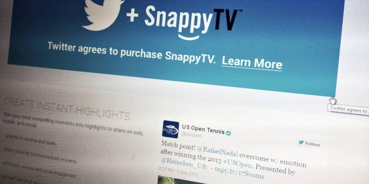 Twitter adquiere SnappyTV
