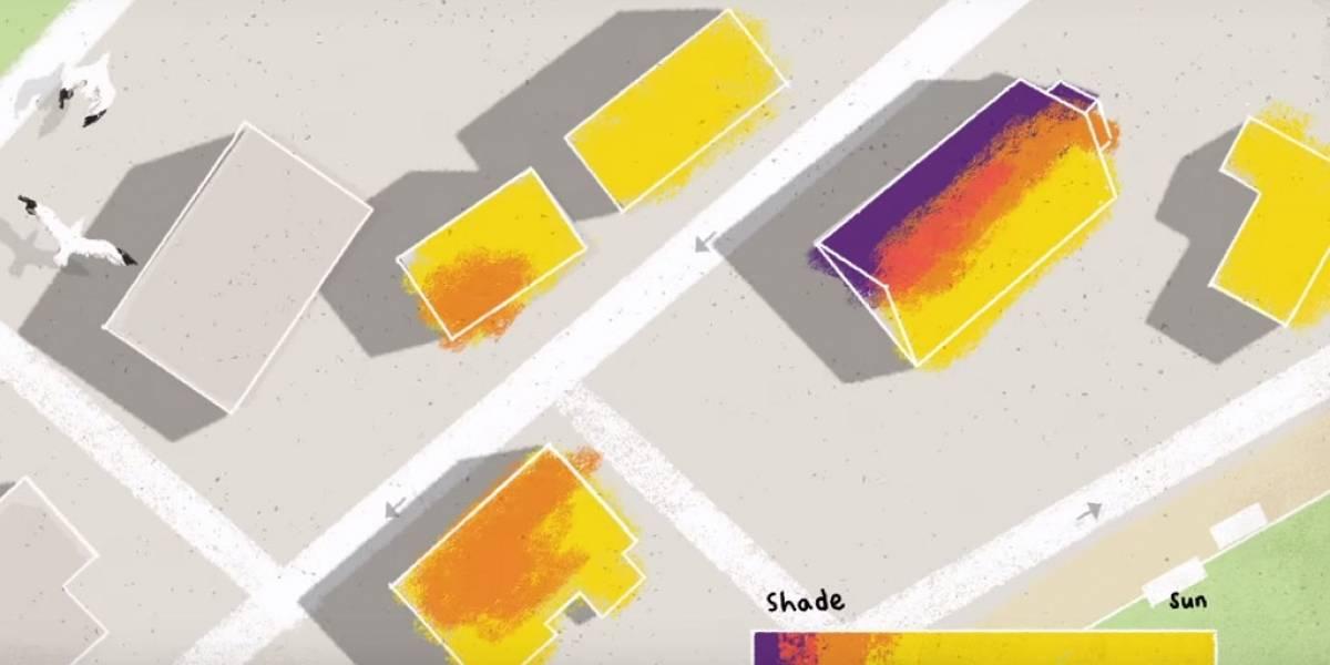Google lanza nuevo proyecto que mide el potencial energético de tu techo